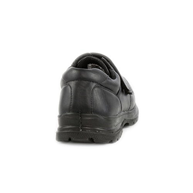 DemoMax - Demo Max Boys Black Velcro Smart Shoe - Size 1 - Black