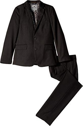 Appaman Kids Baby Boy's Two-Piece Mod Suit (Toddler/Little Kids/Big Kids) Charcoal Houndstooth 5 ()
