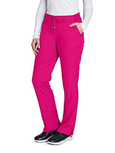 (Grey's Anatomy 4277 Straight Leg Pant Raspberry Tart S)