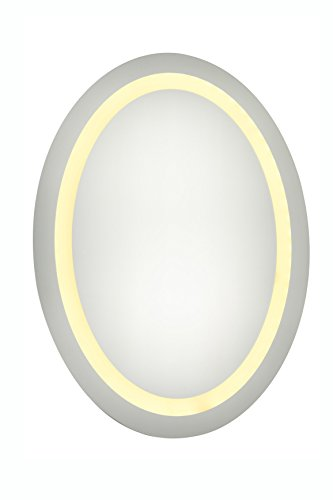 Elegant Decor Mre-6018 Dimmable 3000K LED Electric Mirror Oval, 21'' Width x 28'' Height by Elegant Decor