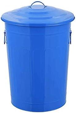 ゴミ箱は、環境保護の円形分類屋外大型リサイクルストレージバケットペイントは、鉄バケツのゴミ箱カバードことができ
