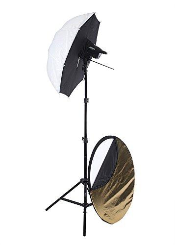 "StudioPRO Professional Photography Lighting Kit One 100W/s Monolight 33"" Umbrella Speedlite Brolly Softbox (5 in 1 Reflector 42"" Studio Portrait Kit)"