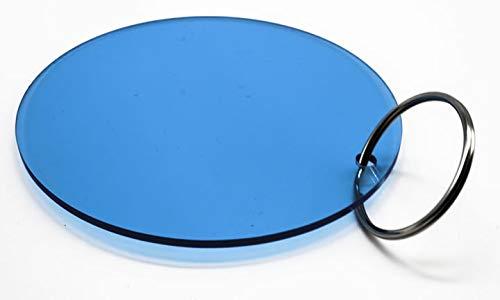 Key Q Oversized Key Chain Blue Circle Acrylic 5