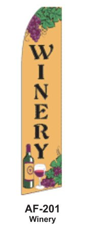 (HPP 11-1/2' X 2-1/2' Brand New Advertising Tall Flag- Winery)