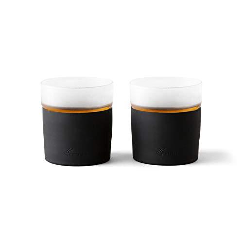 Rabbit R4-18701 Freezable Whiskey Glasses, 8 oz Capacity, Black