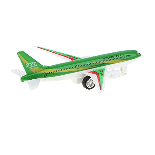 (Homyl Alloy Die-cast Pull Back Plane Toy, Green Colored Boeing 777 Airplane Model for Kids, Adults Collectibles)