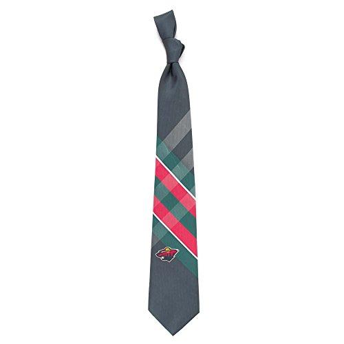 Minnesota Wild Grid Poly Necktie