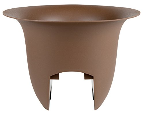 "Bloem Modica Deck Rail Planter 12"" Chocolate"