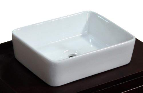 Top Mount Bathroom Sink - Bathroom Ceramic Porcelain Vessel Sink 7050 Pop Up Drain + free Pop Up Drain