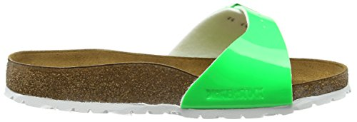 Birkenstock Madrid Birko-flor - Mules Mujer Verde - Grün (Neon Green Lack)