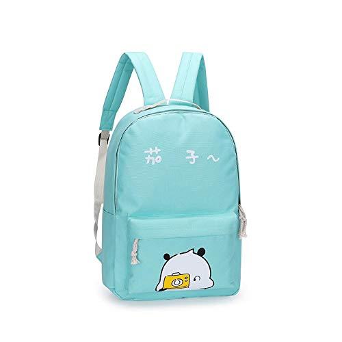 Preppy Letter Handbag Shoulder Print 5pcs Bags Girls set Backpack Fashion Green Diamondo HBpZqX