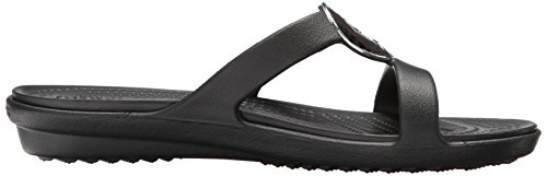 Sanrah Sandal Aperta Black Hammered Crocs Punta Nero Metal Black Women Donna tdxqwYUFw