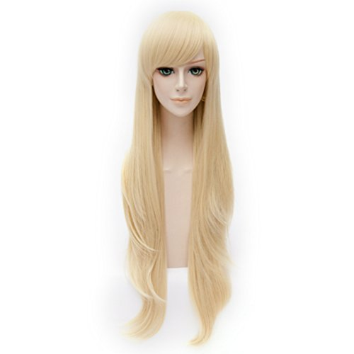 TOP-MAX Wig 80cm Long Wavy 14 Colors Fashion Girls 31 Inches Cosplay Party Basic Hair+Cap ()
