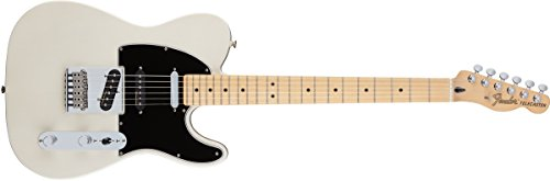 Fender Deluxe Nashville Telecaster Electric Guitar, Maple Fingerboard, White Blonde ()