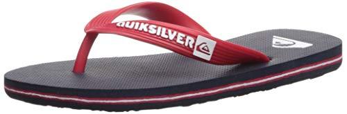 Quiksilver Boys' Molokai Youth Sandal, Blue/Red/Blue, 11(28) M US Little Kid