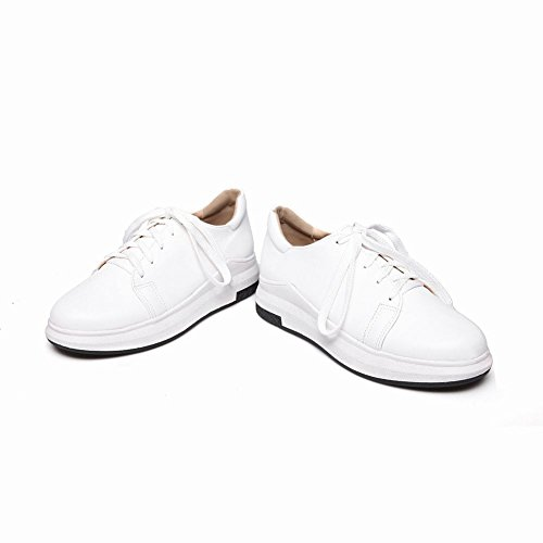 Lacets Lace Up Plat Oxford Chaussures Blanches