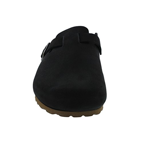 Women's Comfort Clogs Plus Black Sanosan Berlin Nubuck Leather In pqfzCPd