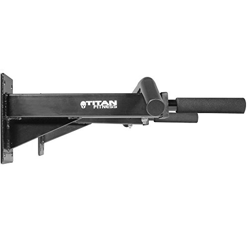 Titan 3 Position Wall Mounted Pull Up Bar ChinUp Mount Foam Grip Handles