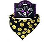 Smiley Happy Face Dog Bandanas for X-small Dogs