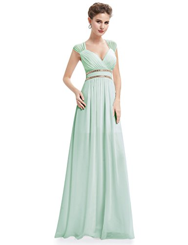 Mint Long (Ever-Pretty Womens Floor Length Empire Waist Bridesmaid Dress 4 US Mint Green)