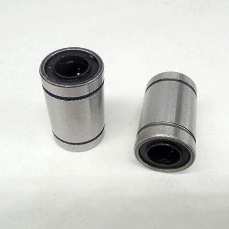 12 X LM10UU 10mm Linear Ball Bearing Bush Bushing For CNC 10x19x29mm