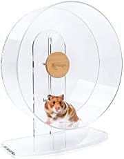 Niteangel Silent Hamster Exercise Wheel - Dual-Bearing Quiet Spinning Acrylic Hamster Running Wheel for Hamster Gerbils Mice Degus Or Other Small Animals