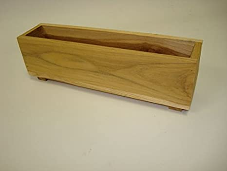 Amazon.com : 2 Teak Wood Herb Planters tree window box garden 13 x on wooden seed planter, wooden herb boxes, pallet wood planter, wooden herb garden, wooden potato planter, wooden plant stands, wooden corn planter, wooden pot planter, wooden herb sign, wooden herb bed, wooden cedar planter, wooden garden planter, wooden flower planter, wooden pumpkin planter, wooden rectangular planter, wooden wine planter, wooden herb box, wooden tomato planter, wooden strawberry planter, wooden herb table,