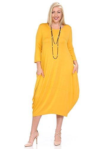 Pastel by Vivienne Women's Cocoon Midi Dress Plus Size X-Large -