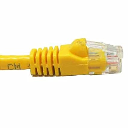 SF Cable 75ft CAT6A 600 MHz Snagless Patch Cable Yellow