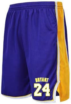 BEOOK Herren Shorts Lakers 24# Kobe Basketball Hosen Fitness Running Trainingshose Loose Five Pants