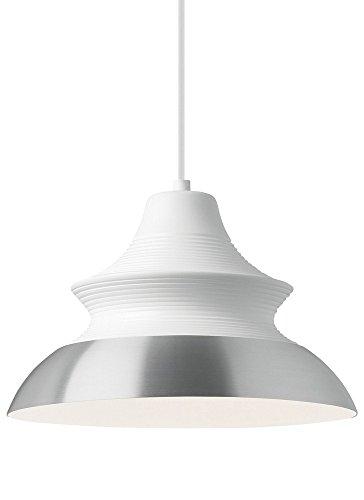 LBL Lighting LBL Togan 1 Light White Top Aluminum Bottom Line-Voltage Pendant