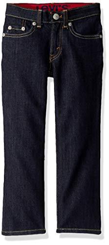 Levi's Boys' Little Slim Fit Elastic Waistband Jeans, Rinse, 6 (Levi 505 Slim Boys)