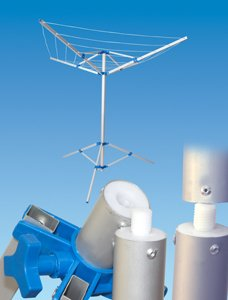 Pennine Fold Down Rotory Clothes Airer Dryer With Tripod & Carry Case Caravan Motorhome