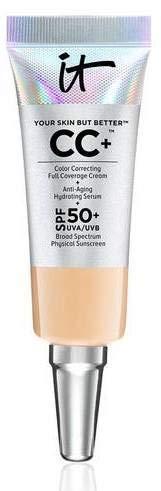 it Cosmetics Your Skin but better CC+ Color Correcting Full Coverage Cream Medium 0.135 fl oz Mini size (Best Full Coverage Cc Cream)