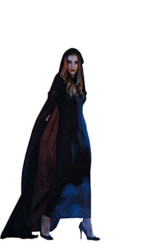 Hitler Costume Halloween (XY Fancy Halloween Women's Black Scary Haunted Witch Cosplay Costume Long Dress XL)