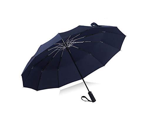 Marketing Folding Canopies - Automatic Black Coating 12K Parasol Wind Resistant Folding Umbrella Rain Unisex Luxury Big Windproof Rain,6