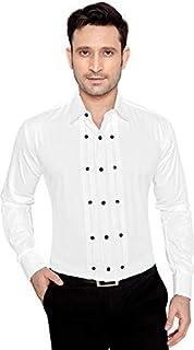 b9fb7724b Global Rang Men's Cotton Tuxedo Shirt with Bow: Amazon.in: Clothing ...