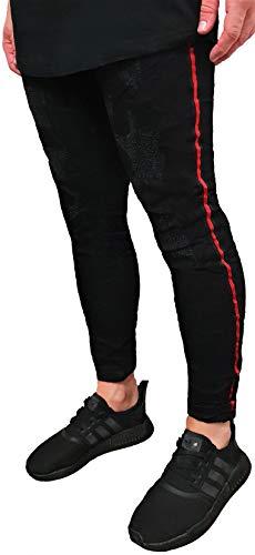 Jeans Uomo Roter Vlp Streifen Schwarz UwZ7RZ1q