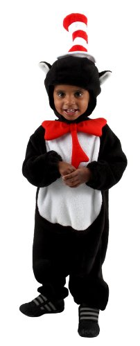 elope Dr. Seuss Cat in the Hat Deluxe Infant Costume (12-18 Months) (Cat Woman Costume Ideas)