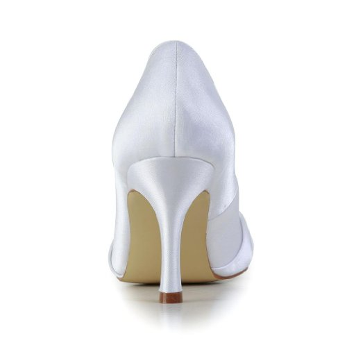 Jia Jia Wedding A31B25 Scarpe Sposa Scarpe col tacco donna bianco, EU 35