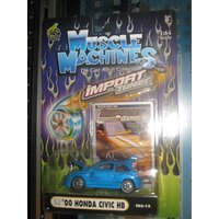 Muscle Machines 1:64 Scale Import Tuner '00 Honda Civic HB Blue (Honda Import Tuner)