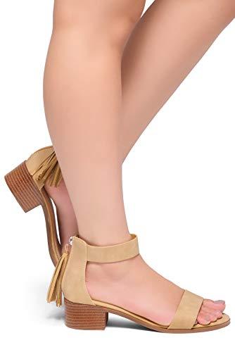 e9a02d8550d7 Herstyle Women s BRUEFLY Fashion Ankle Strap Open Toe Block Low Heel Sandals