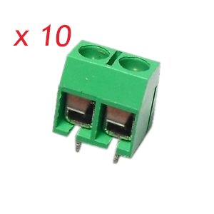 5X Borna Clema conexion 4 Pines PCB enlazable tornillo bloque