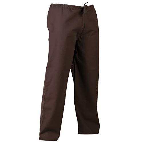 Kasimir Canvas Trousers Medieval Pants Renaissance Trousers Cosplay LARP (Large, Brown)