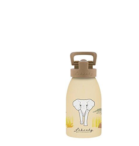 Liberty Bottleworks Kid's Safari Elephant Aluminum Water Bottle, Made in USA, 12oz, Sport (Safari Bottle)