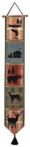 Cabin Wall Hanging - Manual Woodworkers & Weavers Tapestry Bell Pull, Bear Lodge
