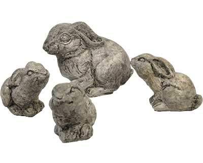 (Athens Rabbit Statue Set, Pre Aged)