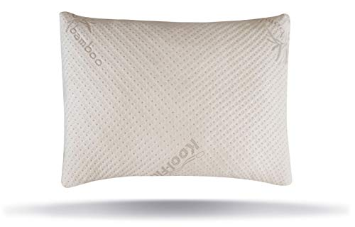 Snuggle-Pedic Ultra-Luxury Bamboo Shredded Memory Foam Pillow Combination With Adjustable Fit and...
