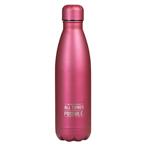 Stainless Steel Water Bottle: All Things Are Possible by Christian Art Gifts