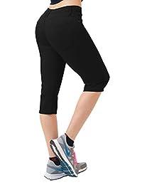 Hybrid Women's Butt Lift Super Comfy Stretch Denim Capri Jeans-Q43300X-BLACK-24